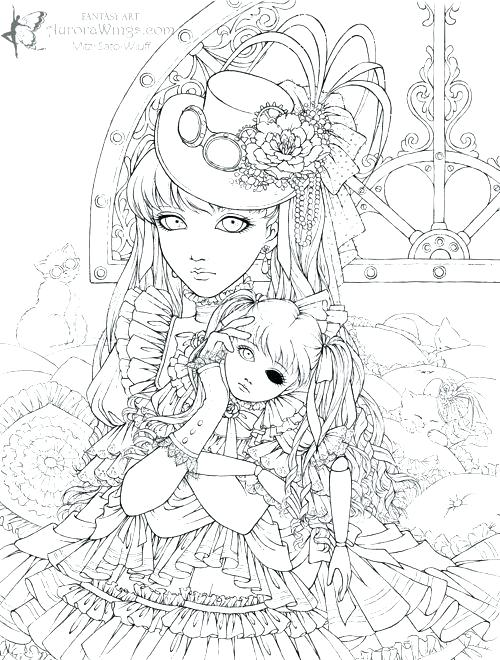500x660 Steampunk Coloring Pages Printable Anime Coloring Pages Steampunk