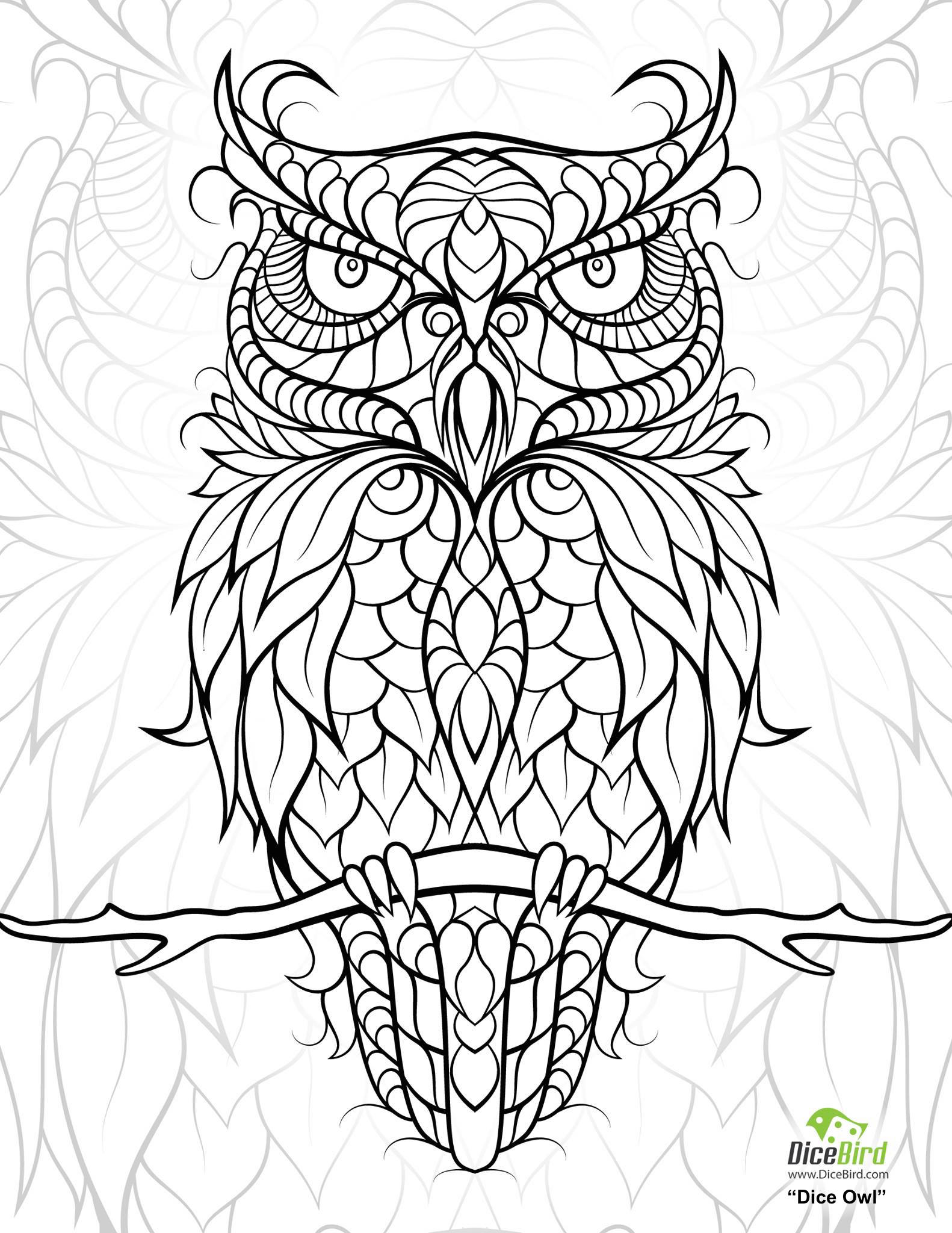 1582x2048 Diceowl Adult Coloring Worldwide