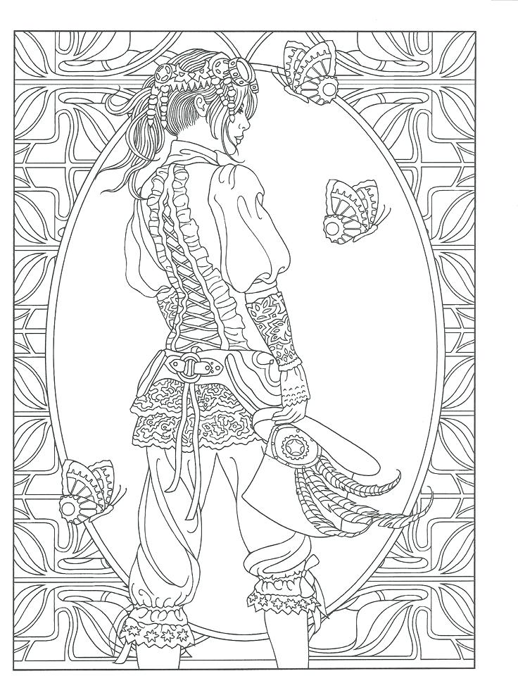 736x987 Steampunk Coloring Pages