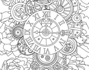 340x270 Amazing Decoration Steampunk Coloring Pages Free