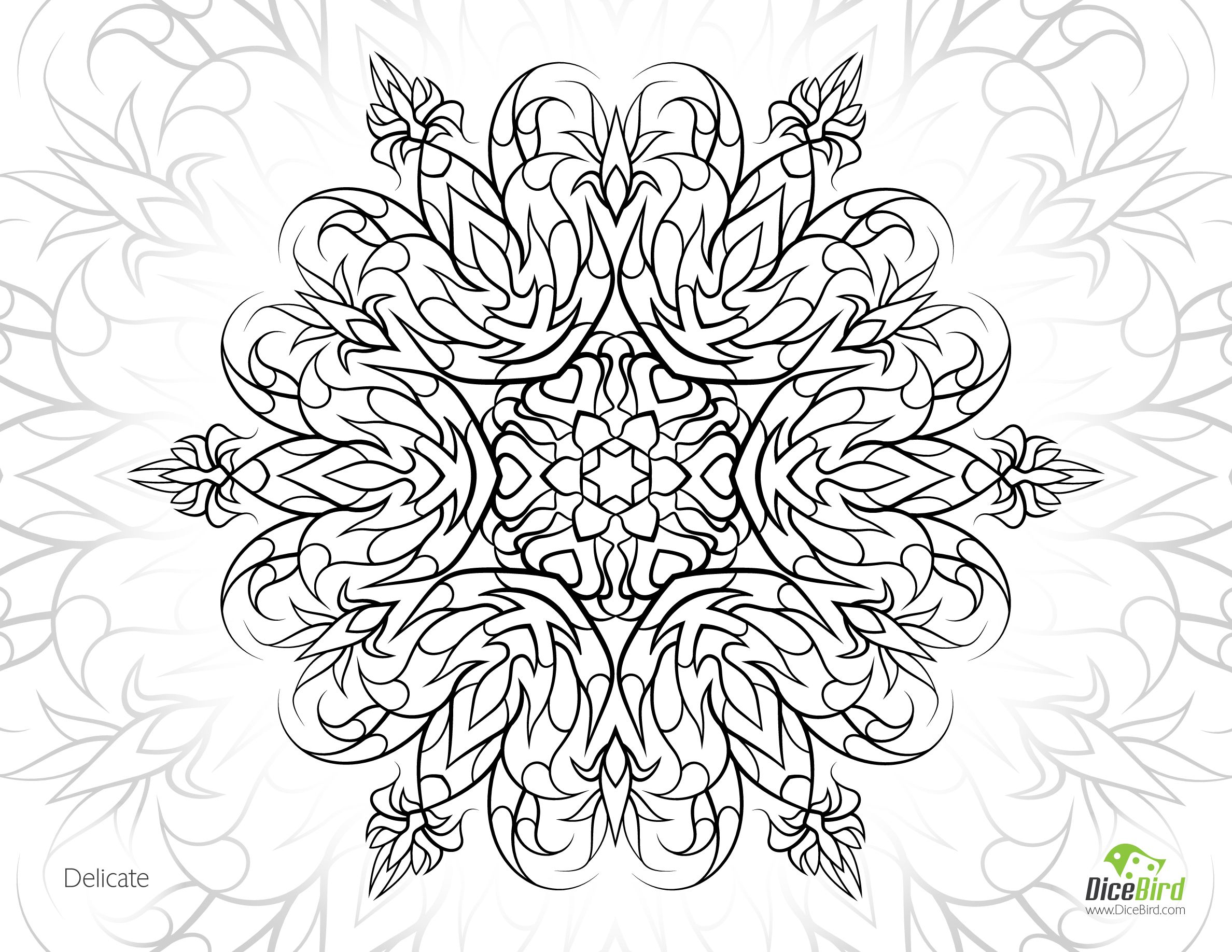 2376x1836 Delicate Flower Free Printable Coloring Pages Adults Only Mental