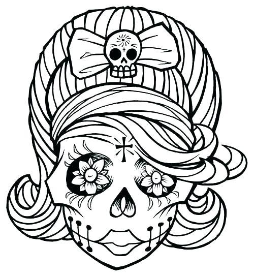 Free Sugar Skull Coloring Pages Pdf at GetDrawings.com ...