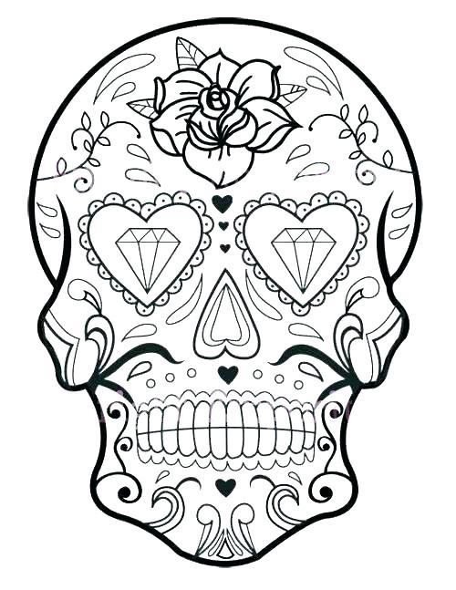 500x647 Sugar Skull Coloring Page Sugar Skulls Coloring Pages Sugar Skulls