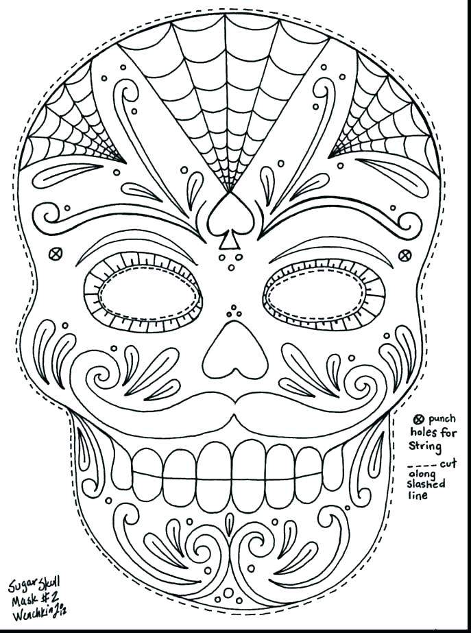 687x923 Free Sugar Skull Coloring Pages Skull Free Sugar Skull Coloring