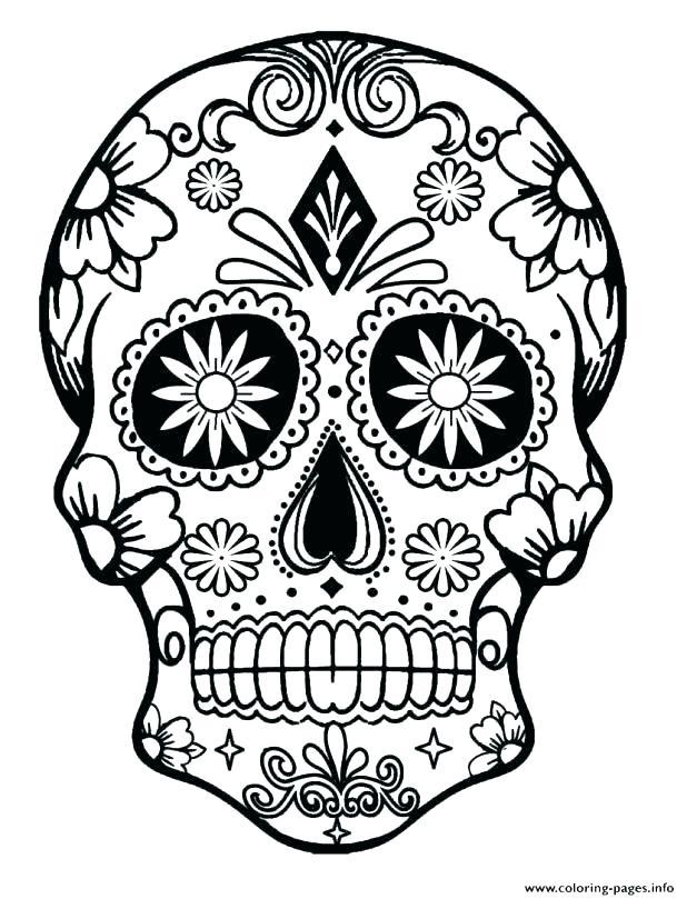 618x809 Free Sugar Skull Coloring Pages Sugar Skull Color Pages Skull