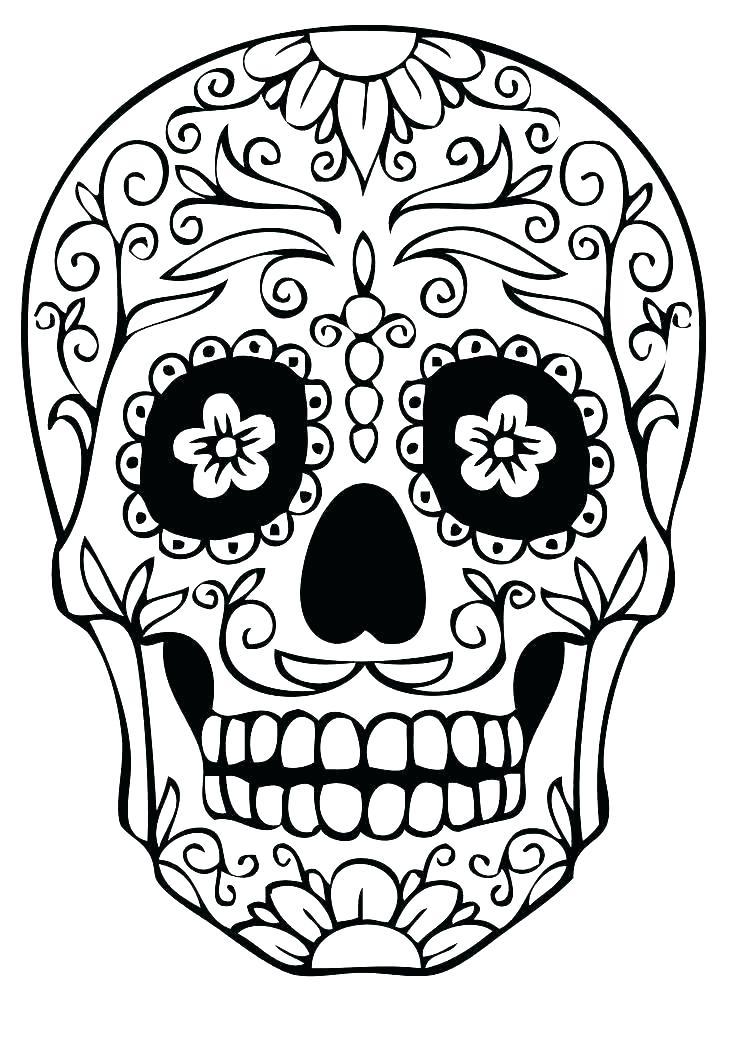 736x1041 Free Sugar Skull Coloring Pages Sugar Skull Colouring Pages Sugar