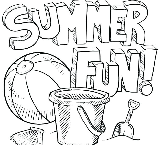 Free Summer Coloring Sheets