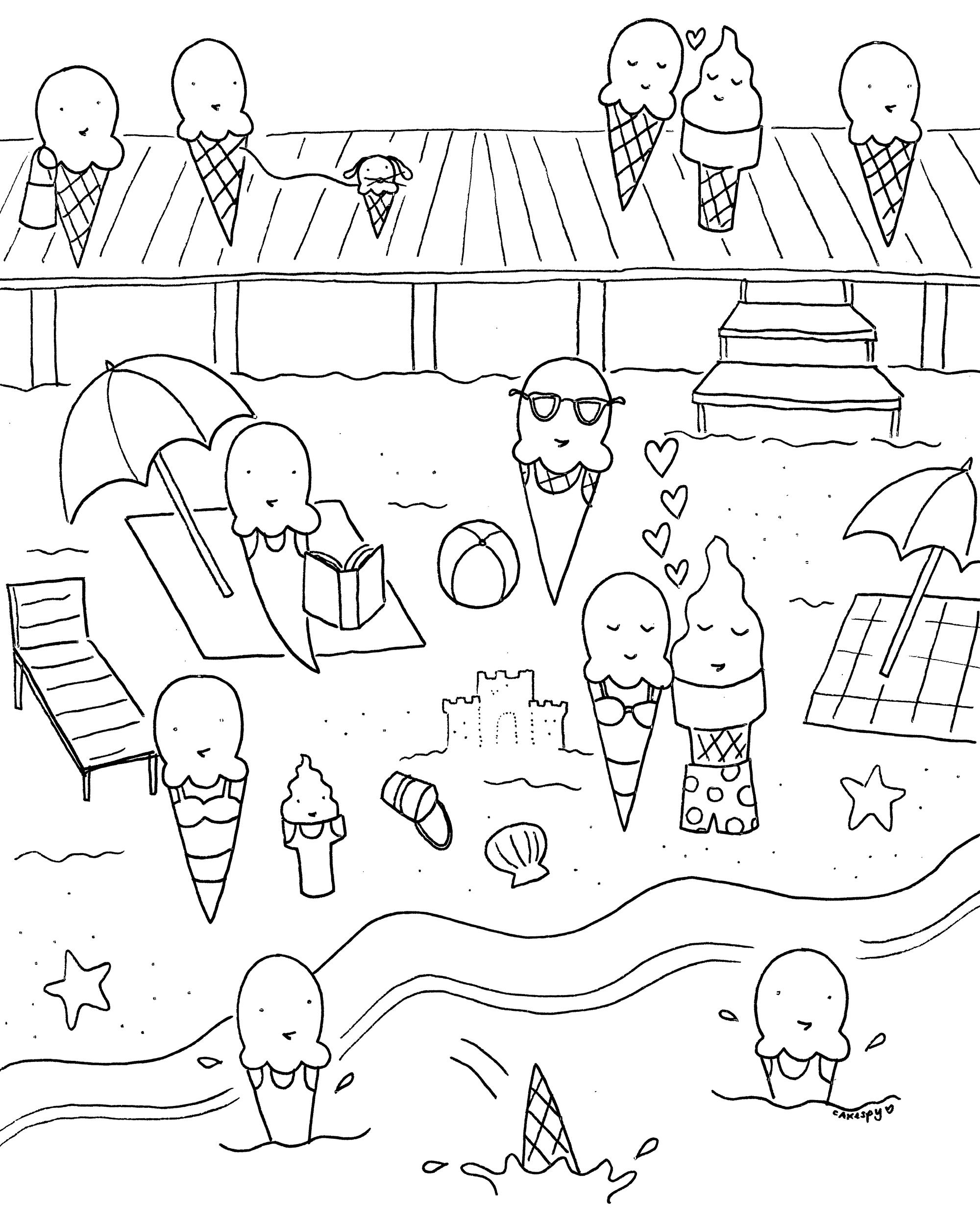 - Free Summer Coloring Sheets Haramiran