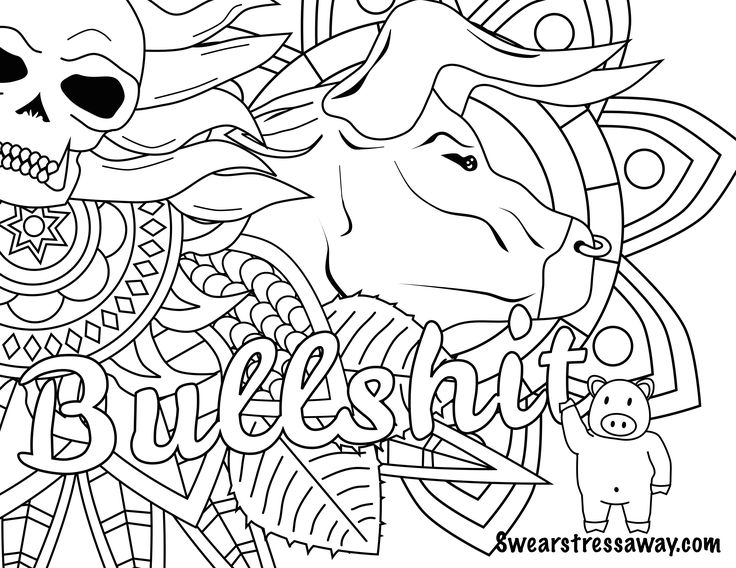 736x568 Free Printable Coloring Pages For Adults Only Swear Words