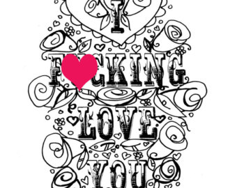 340x270 Free Printable Coloring Pages For Adults Swear Words