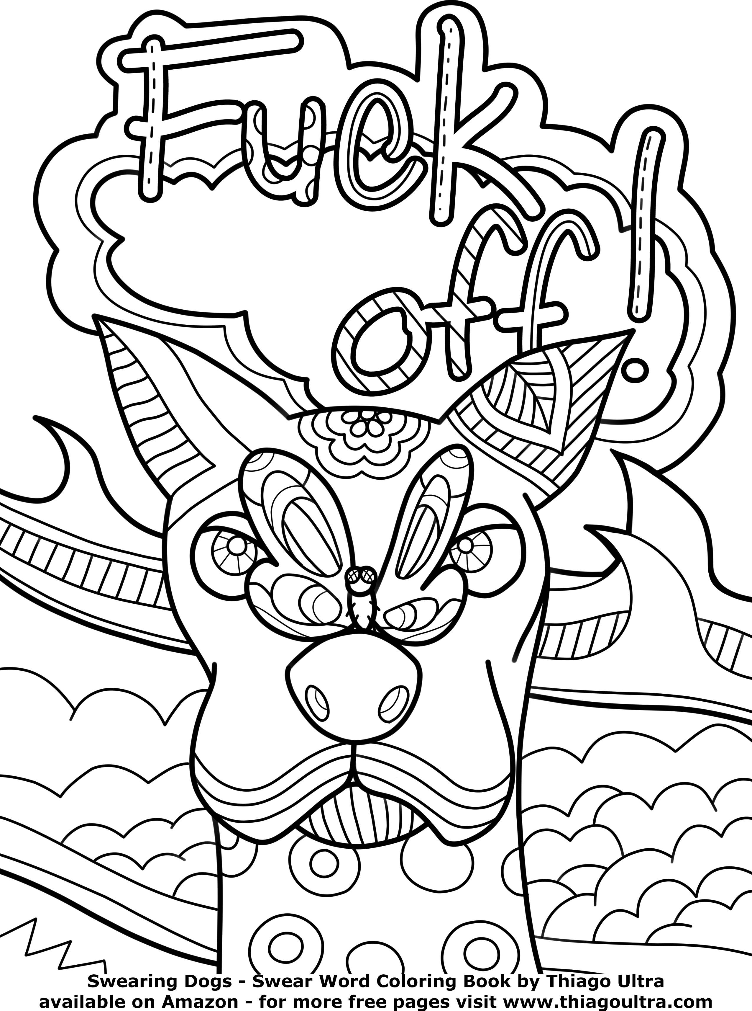 2550x3425 Free Printable Swear Word Coloring Pages Coloring Page Collection