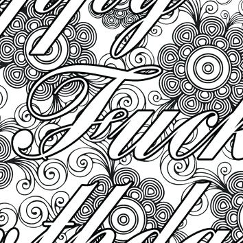 354x354 Good Adult Swear Word Coloring Pages And Printable Adult Coloring