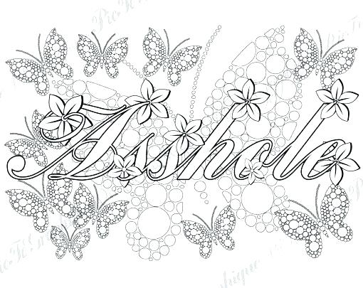 510x405 Swear Word Coloring Pages For Adults Elegant Free And Adult Page