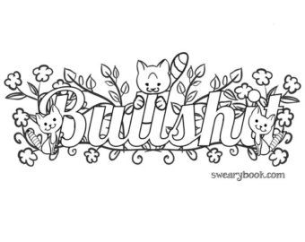 340x270 Swear Word Coloring Adult Book