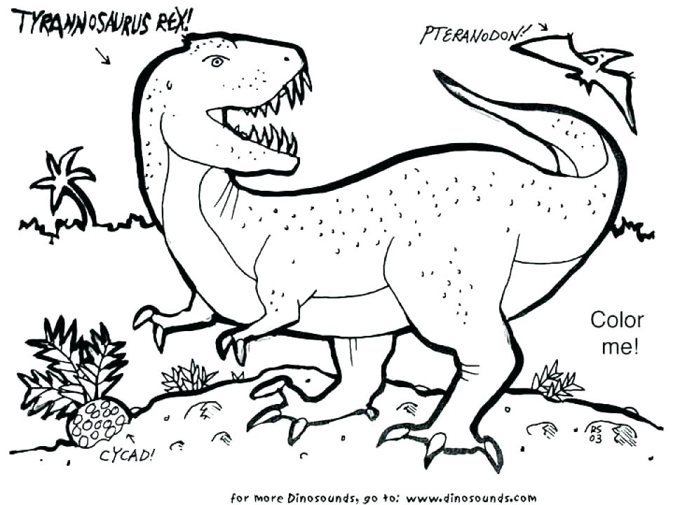 960x720 T Rex Coloring Page Good T Coloring Pages Kids Tyrannosaurus