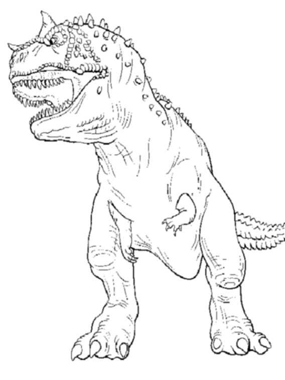 568x757 T Rex Coloring Page Jurassic World Kids Colouring Pages