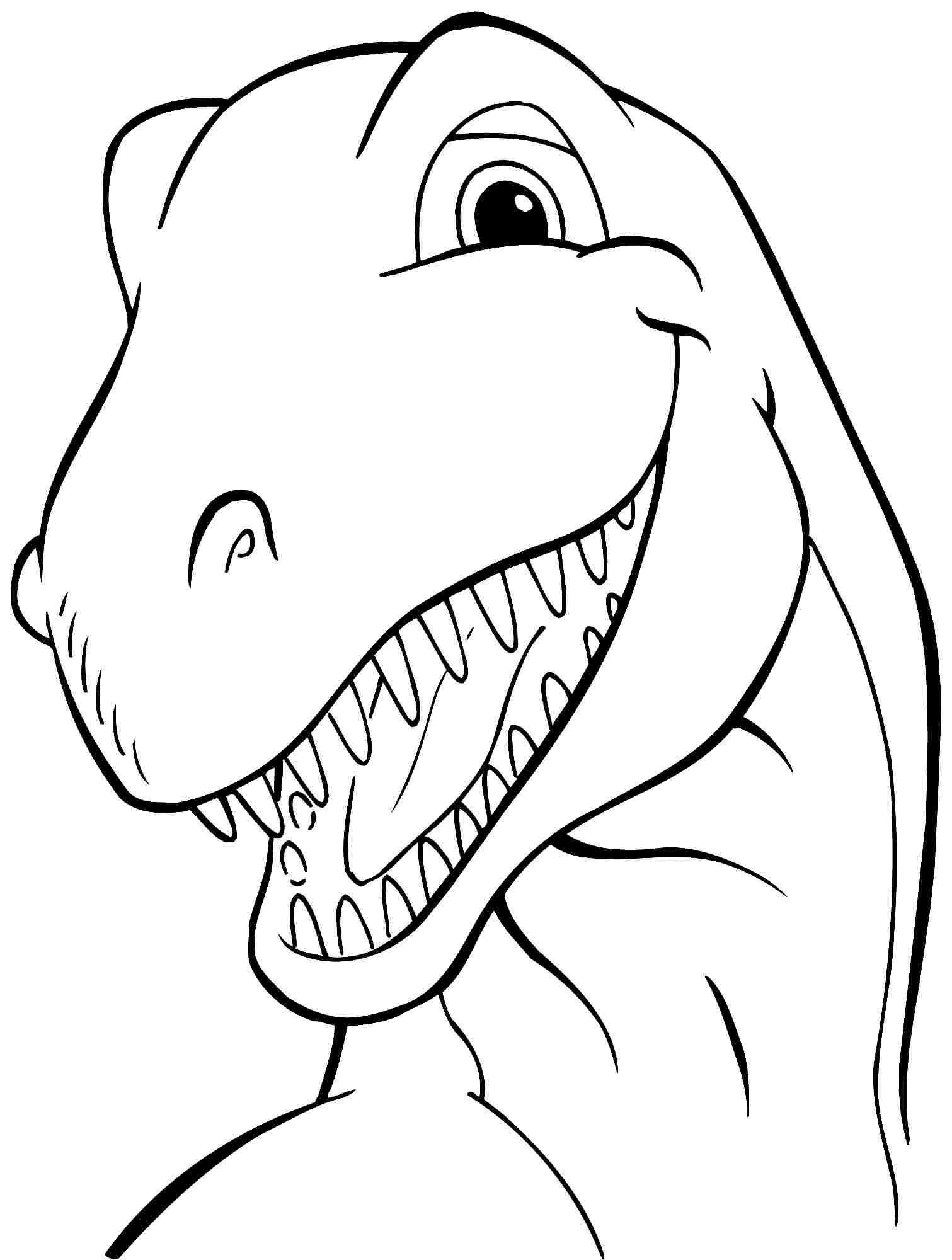 1511x2000 Animal Dinosaurs Tyrannosaurus Rex Coloring Sheets Free Printable