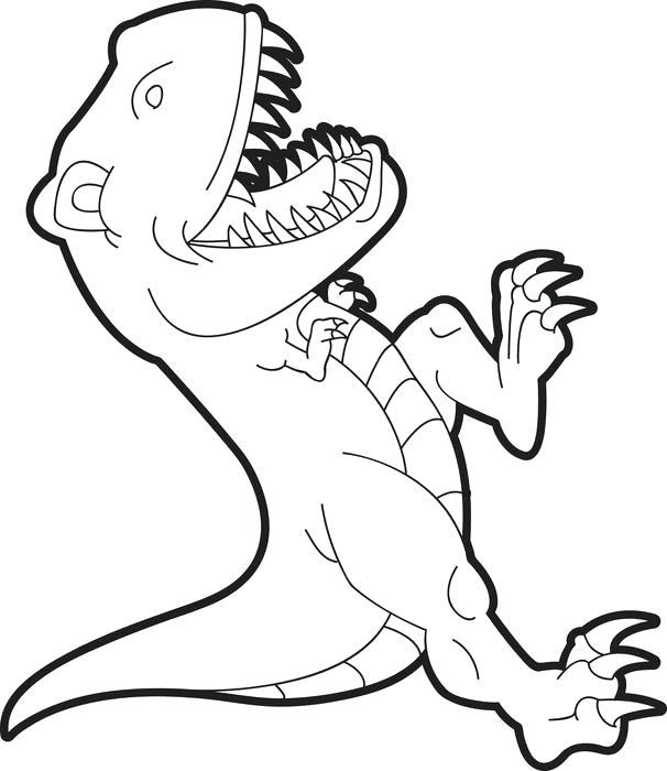 606x700 Tyrannosaurus Rex Coloring Pages Free T Rex Dinosaur Coloring