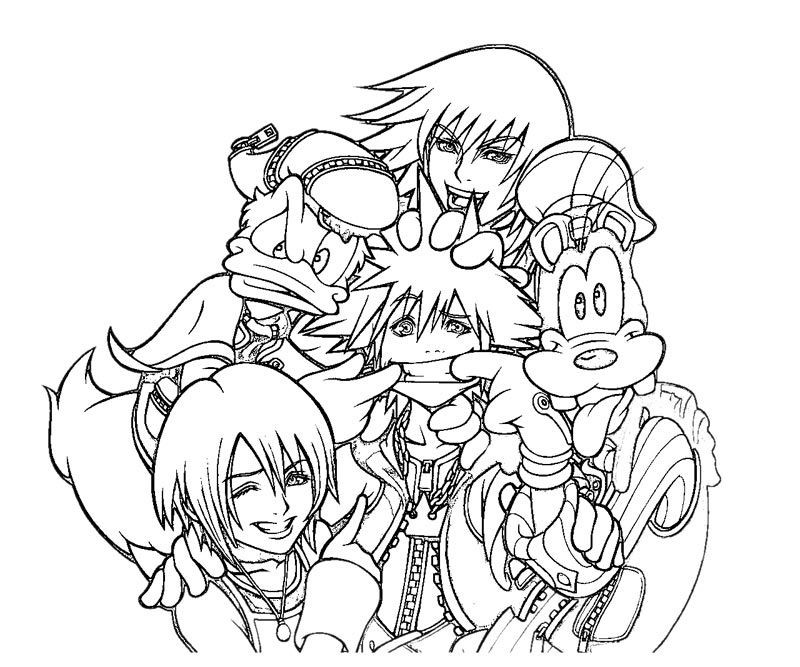 800x667 Kingdom Hearts Coloring Pages Cricut And Craft