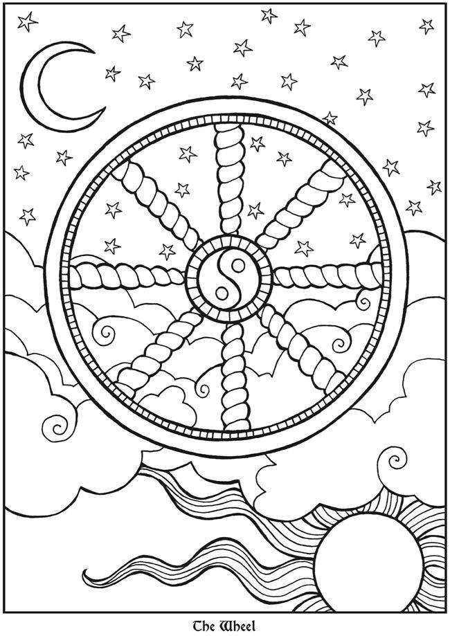 650x919 Welcome To Dover Publications Tarot Designs Coloring Book Kids