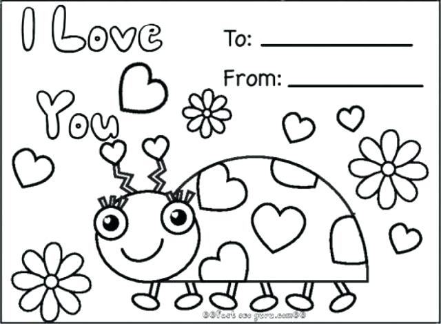 640x470 Card Coloring Pages Happy Valentines Day Card Coloring Pages