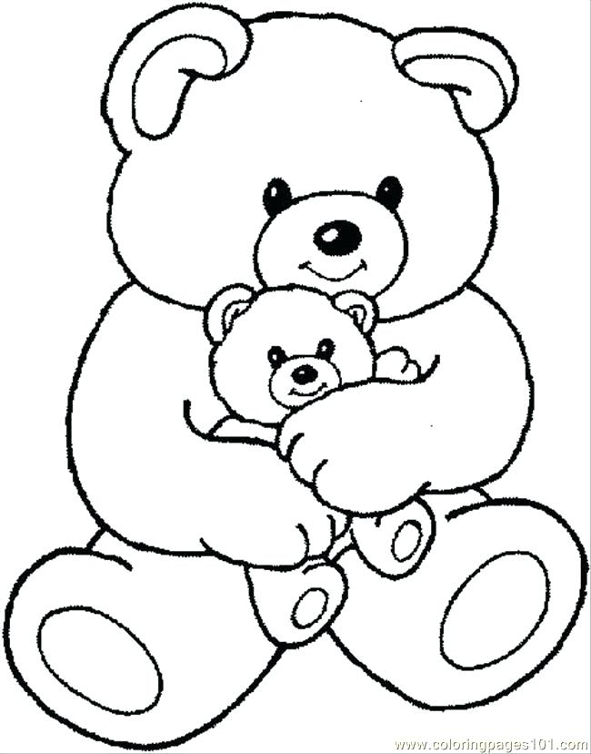 650x828 Coloring Pages Bears Free Printable Teddy Bear Coloring Pages