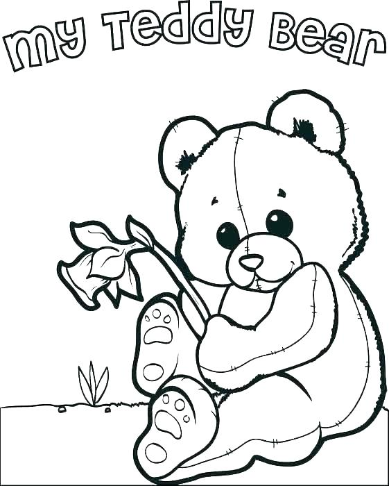 561x700 Coloring Pictures Of Teddy Bears Teddy Bear Printable Coloring