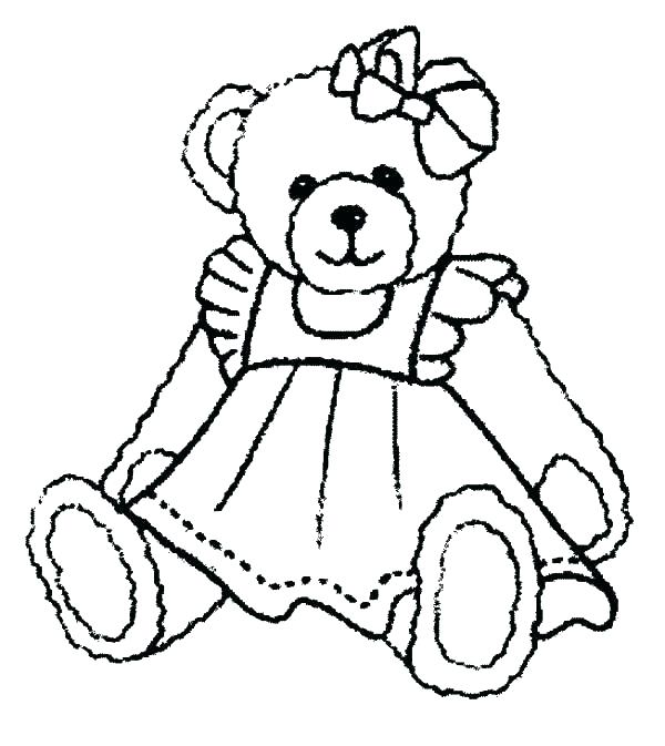 600x673 Cute Teddy Bear Coloring Pages Free Teddy Bear Coloring Pages