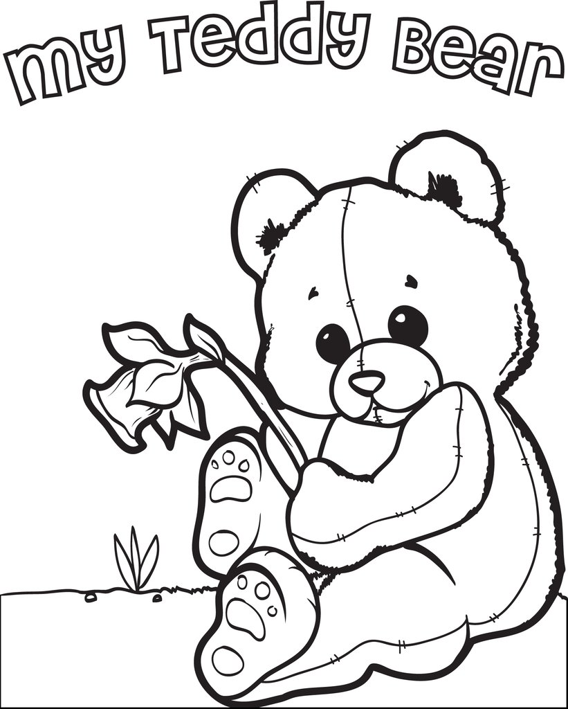 821x1024 Free, Printable Teddy Bear Coloring Page For Kids Supplyme