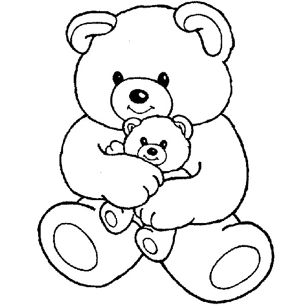 600x599 Free Cute Teddy Bear Coloring Pages For Children