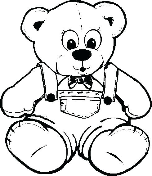 490x567 Bear Coloring Pages Free Printable Teddy Bear Colouring Pages