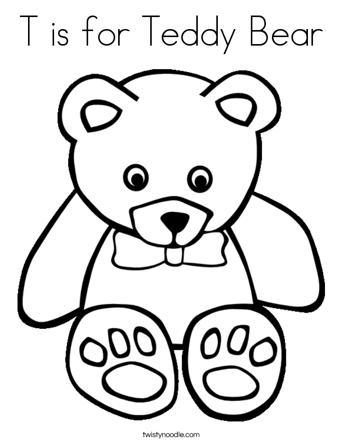 685x886 Teddy Bear Coloring Pages Free