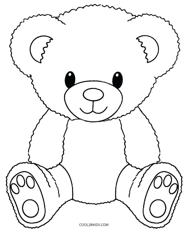 647x792 Bear Coloring Sheets Bear Coloring Sheets Trend Teddy Bear