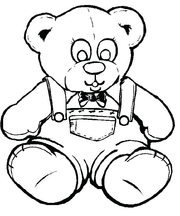 576x690 Cute Teddy Bear Coloring Pages
