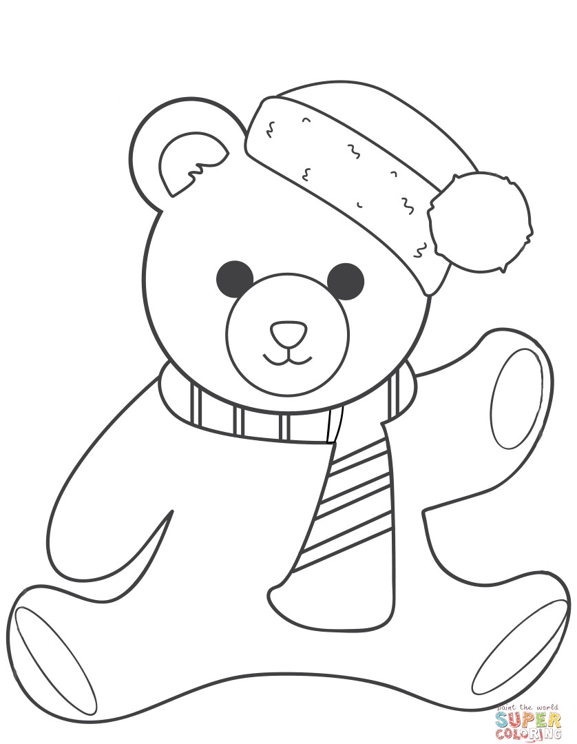 838x1080 Brown Teddy Bear Coloring Pages For All Ages Picturesque Color