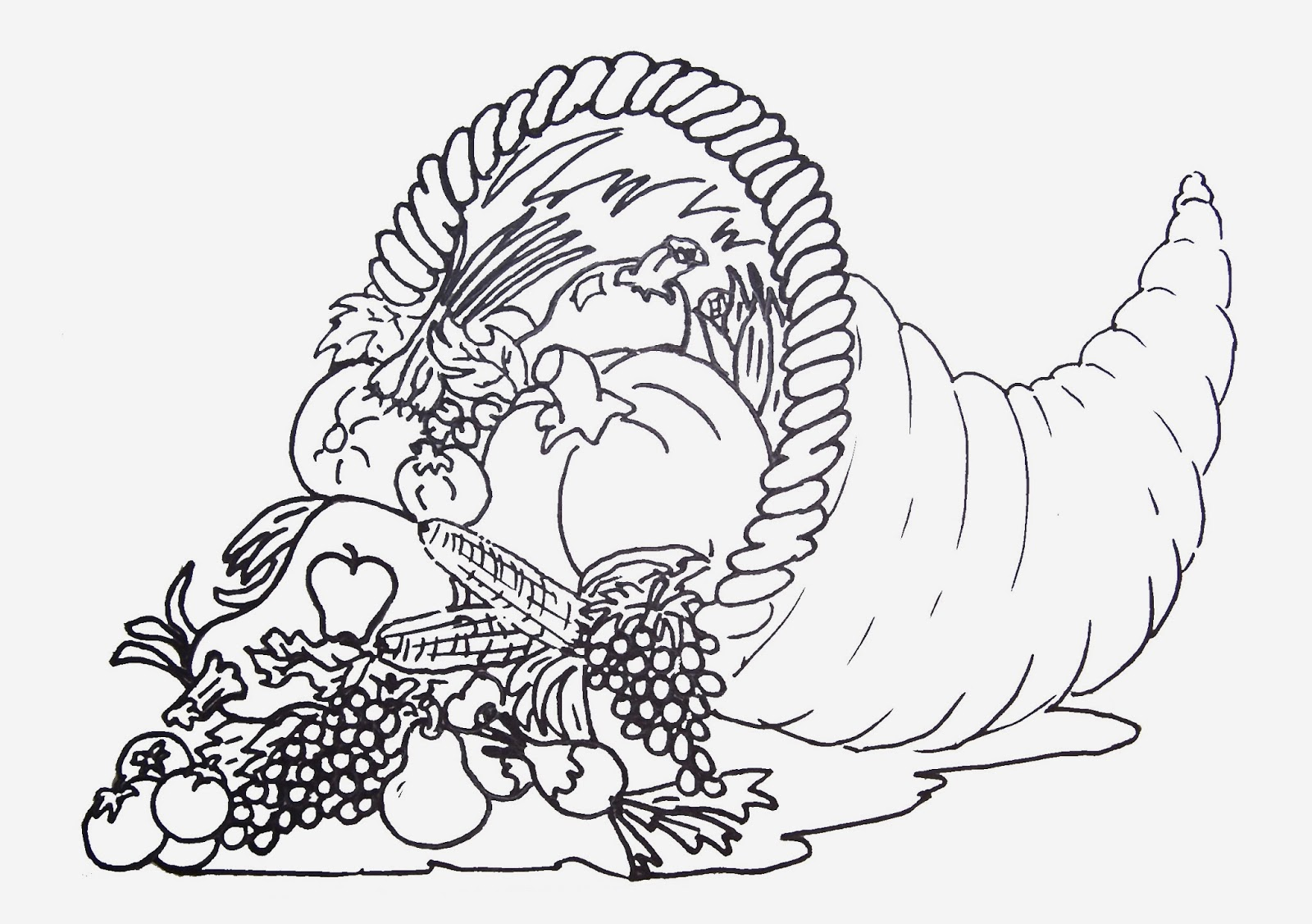 1600x1127 Incredible Printable Coloring Sheets For Thanksgiving Kids