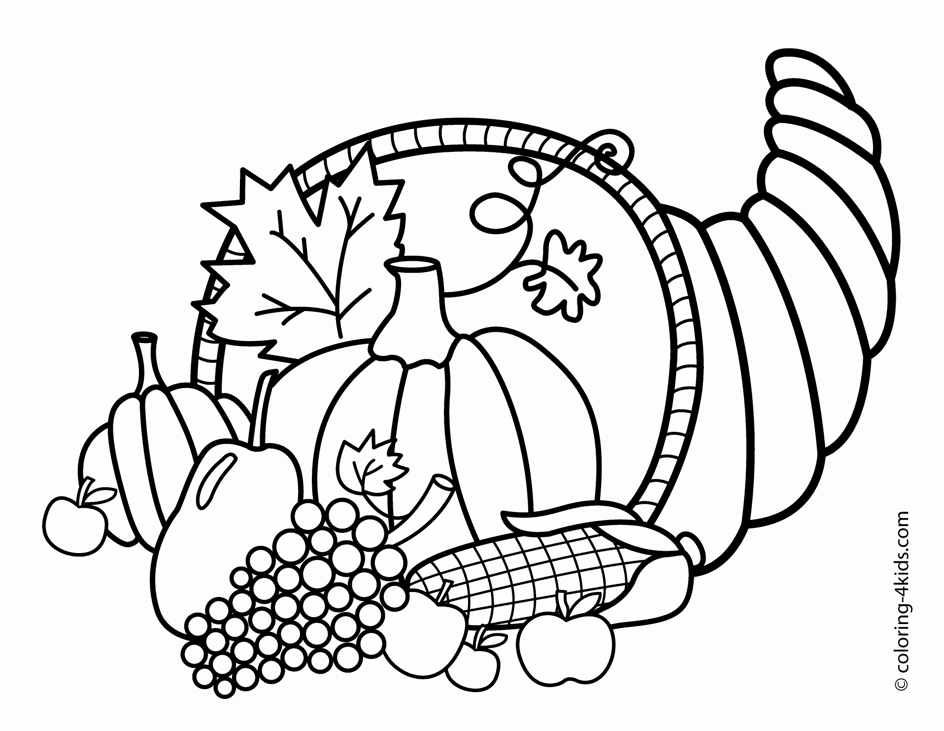 1916x1483 Free Coloring Pages For Thanksgiving Coloring Page