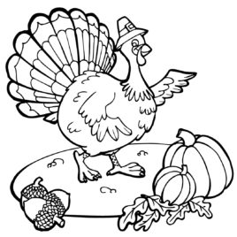 268x268 Free Thanksgiving Coloring Pages For Kindergarten Archives