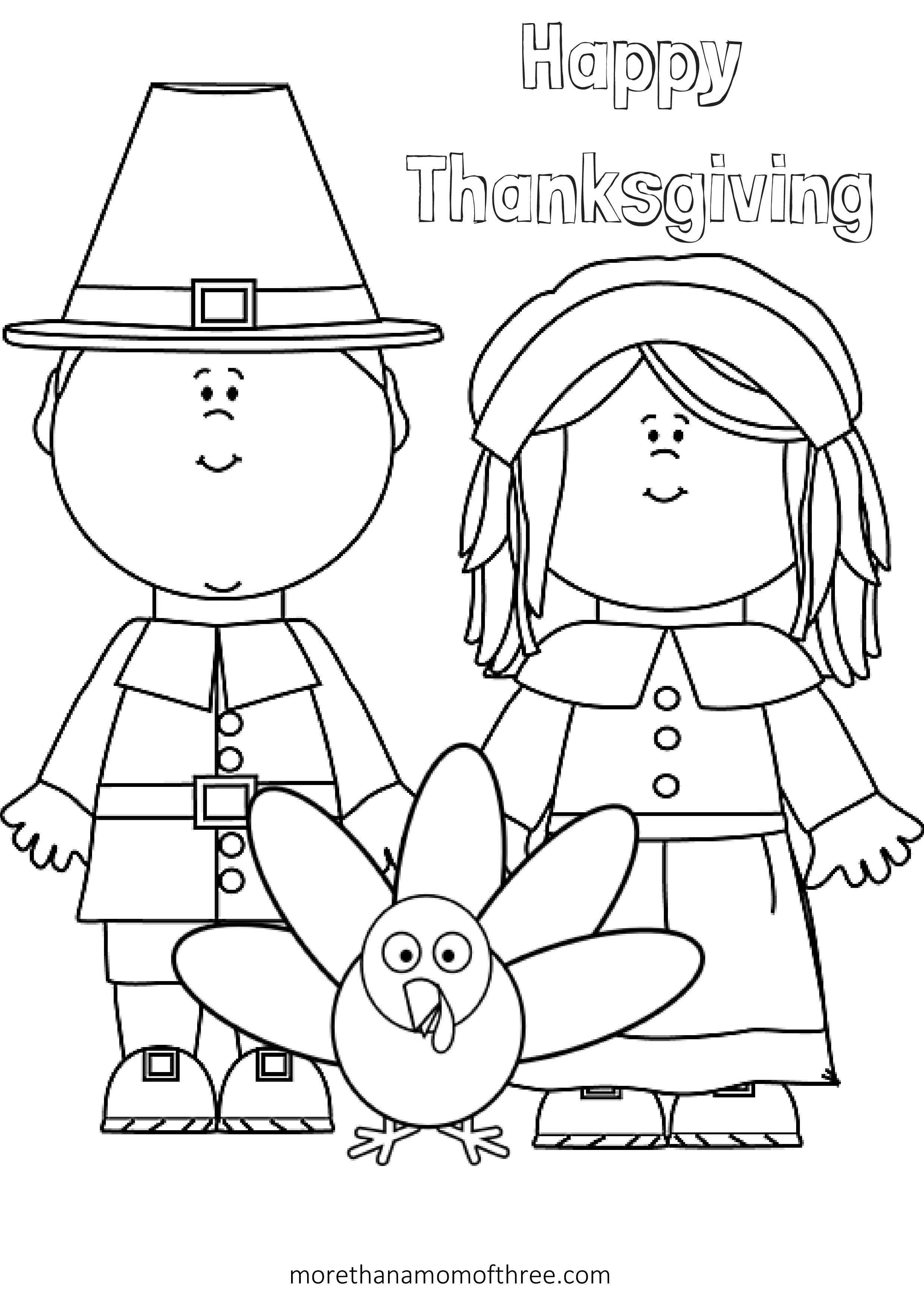 2479x3509 Free Thanksgiving Coloring Pages Printables For Kids Happy