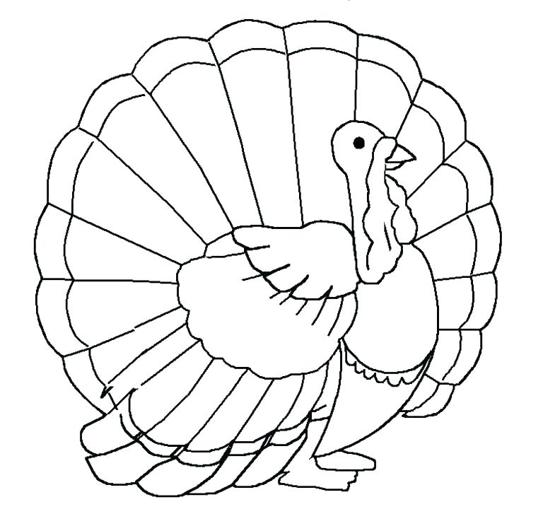 768x744 Preschool Turkey Coloring Pages Turkey Coloring Pages