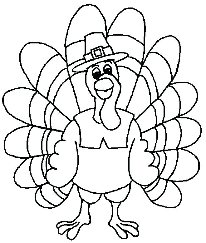 660x778 Turkey Coloring Pages Printable Free