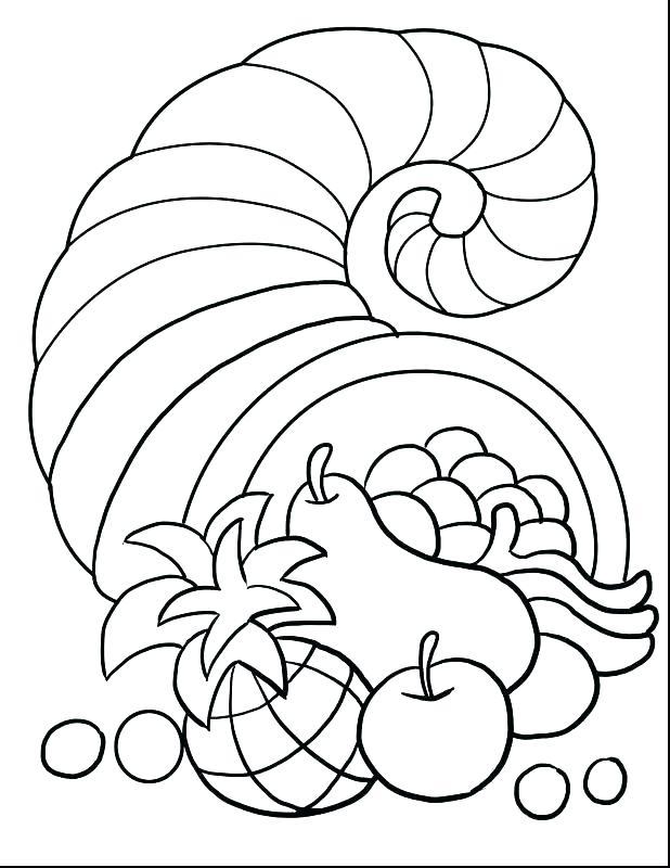 618x800 Cornucopia Coloring Cornucopia Coloring Pages To Print Cornucopia