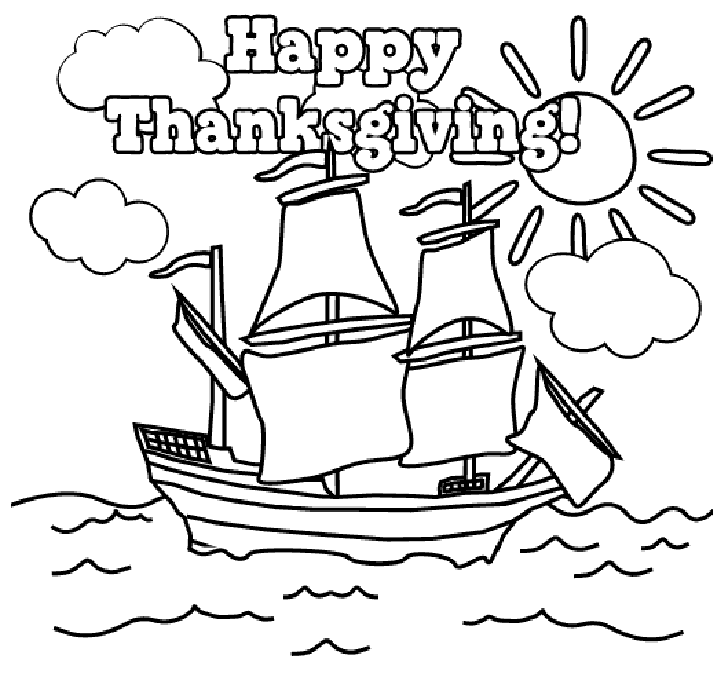 Free Thanksgiving Coloring Pages For Kids Printable At