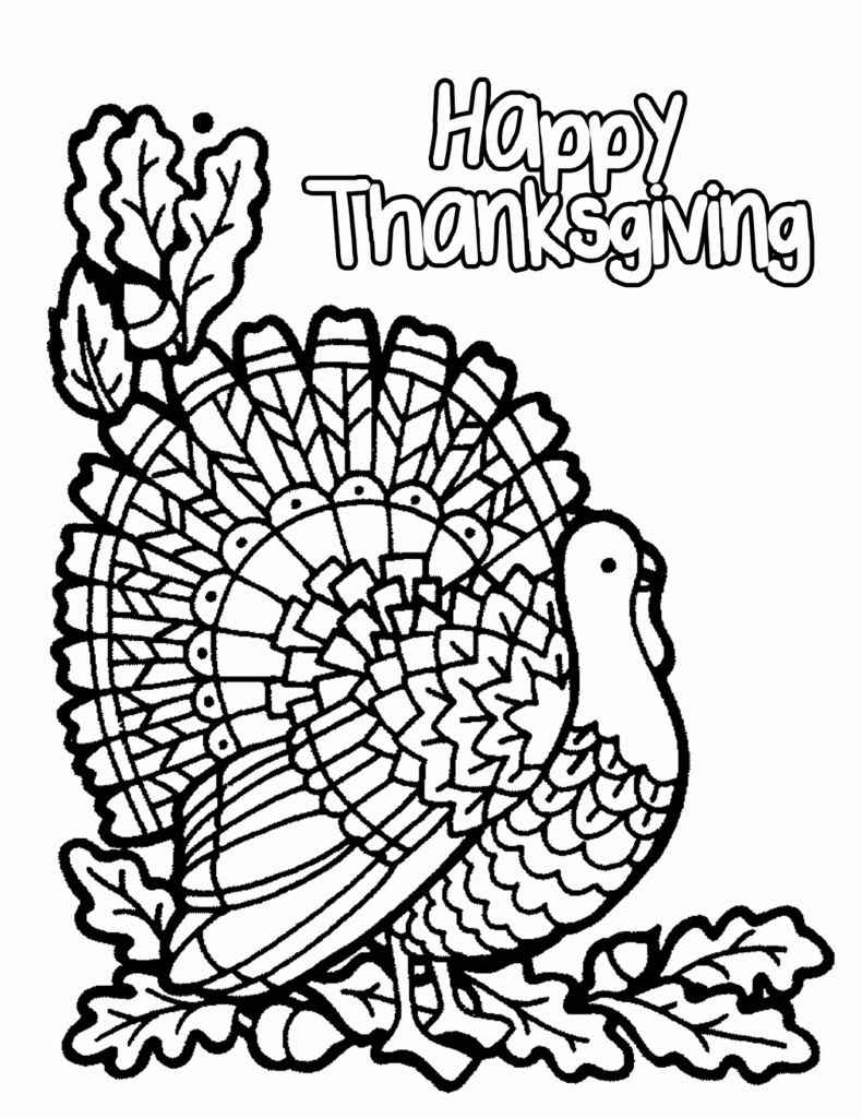 Free Thanksgiving Coloring Pages To Print