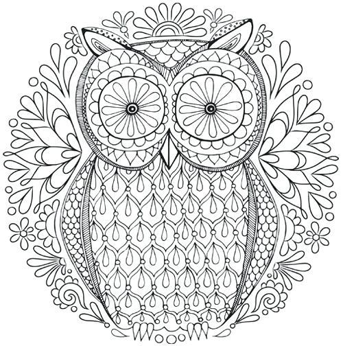 500x504 Coloring Book Owl Free Owl Nature Mandala Coloring Page Art