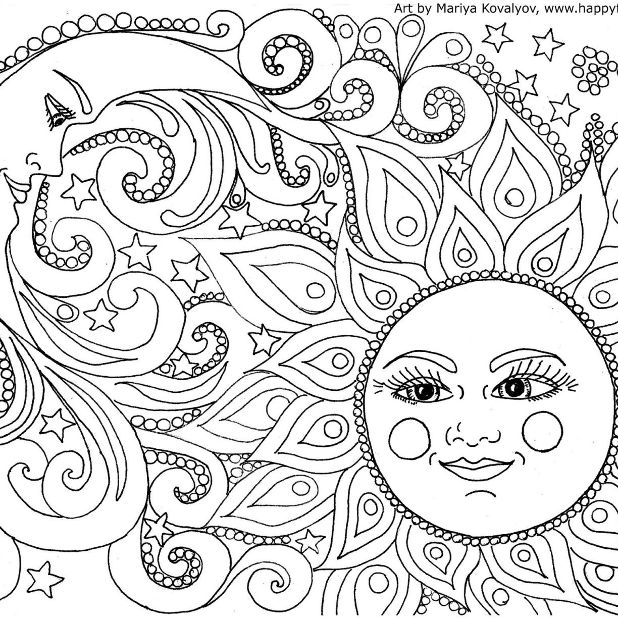 1224x1224 Coloring Page Adult Doodle Monster World