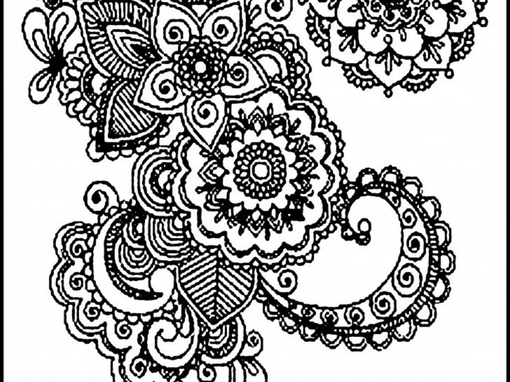 1024x768 Nice Designs To Color For Adults Coloring For Beatiful Adult