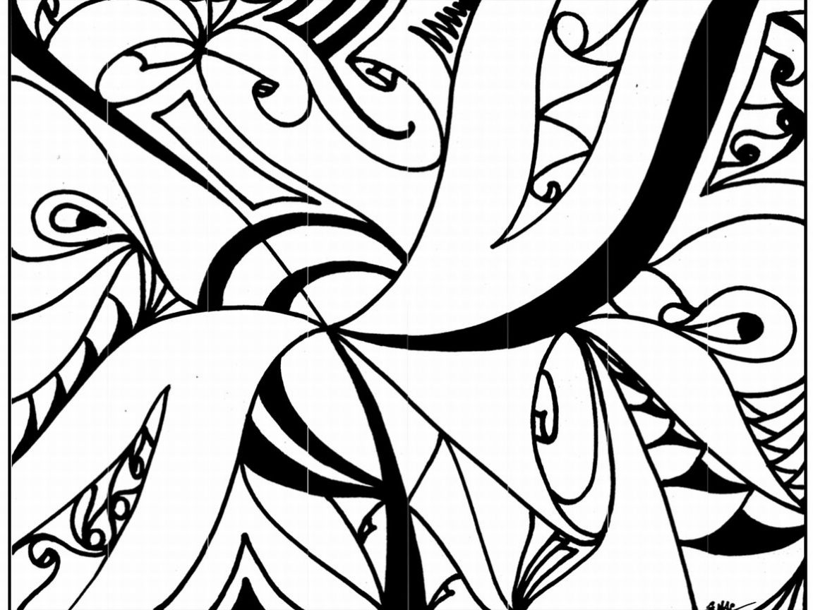1152x864 Art Coloring Pages Printable Doodle Free Therapy Mandala Simple