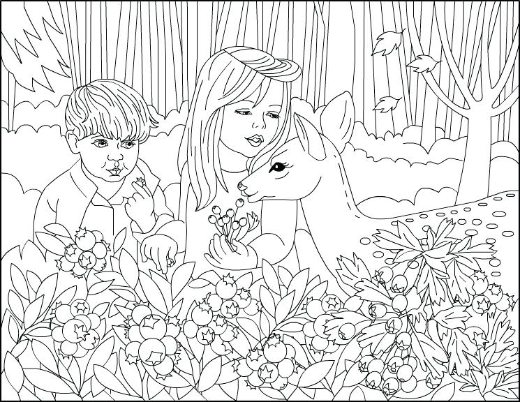 745x576 Therapeutic Coloring Pages For Children