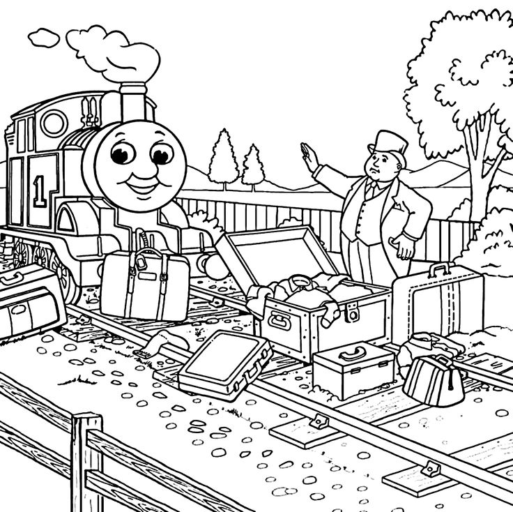 Free Thomas And Friends Coloring Pages